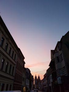 Sonnenuntergang in der Lutherstadt Wittenberg