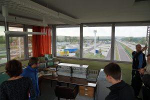 Besichtigung des Kontrollturms