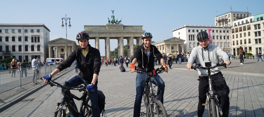 Ankunft am Brandenburger Tor