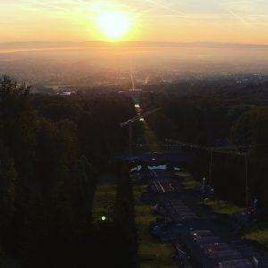 Sonnenaufgang am Bergpark